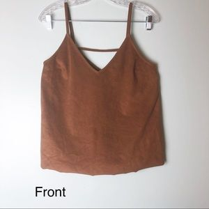 Express brown tank/crop top